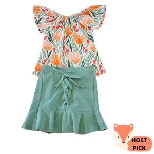 Girls Tulip Skirt Outfit